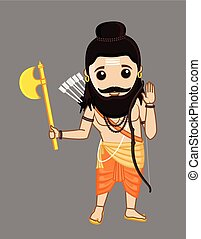 Young Cartoon Parshuram Character