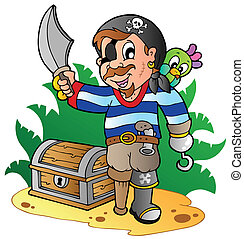 Young cartoon pirate 2