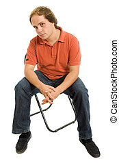 man on a chair