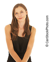 Young caucasian businesswoman