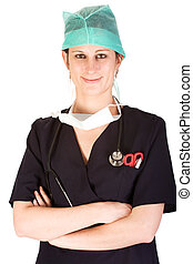 Young Caucasian female healthcare professional