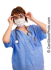 Young Caucasian female medical doctor - Young adult...