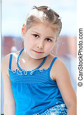 Young Caucasian girl portrait