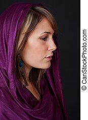 young caucasian woman - beautiful caucasian woman wearing ...