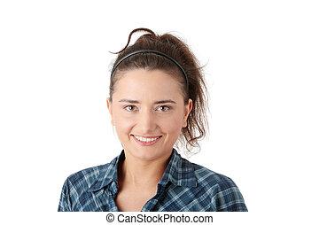 Young caucasian woman portrait
