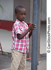 young child alone on the street