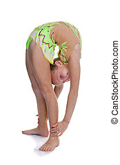 Young child gymnast
