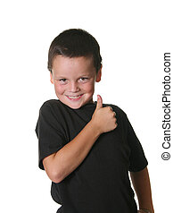 Young Child With Expressive Mannerisms - Young Child With...