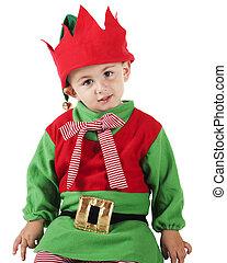 Young Christmas Elf