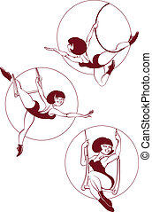 Young circus artist perform