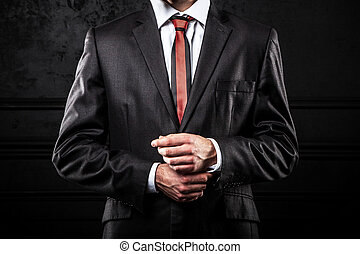 Young confident businessman