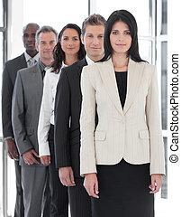 Confident Female Business leader