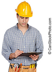 Young contruction worker