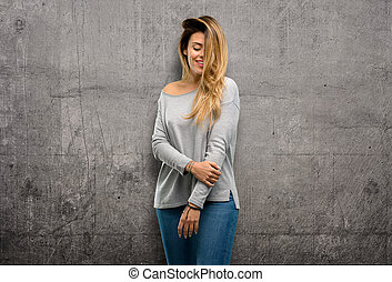 young cool woman posing