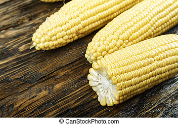young corn on the table