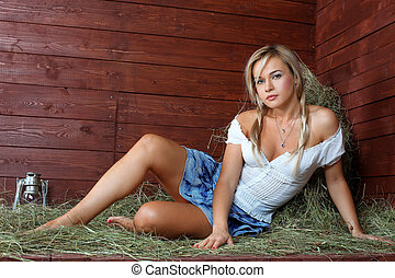 young country woman relaxing