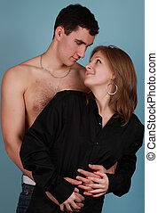 young couple - couple of young caucasian lovers