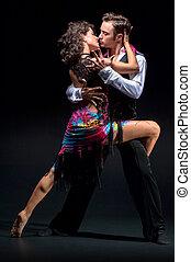 Young couple dancing