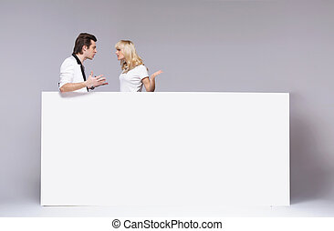 Young couple during an argument