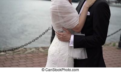 Young couple emracing