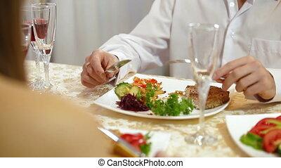 Young Couple Enjoying Meal