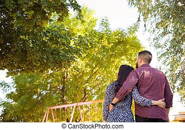 Young couple enjoying the sun