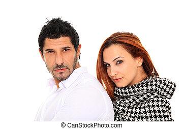 young couple fashion portait