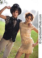 Young couple fashion