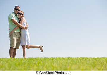 Young Couple Having A Good time
