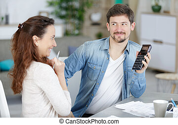 young couple having finance problems