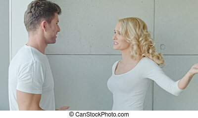 Young Couple Having Serious Argue Between Each Other