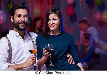 Young couple in a great mood
