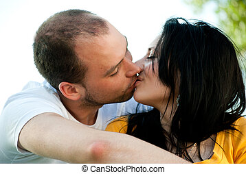 Young couple in love - Outdoors