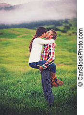Young Couple in Love - Romantic Young Couple in Love...