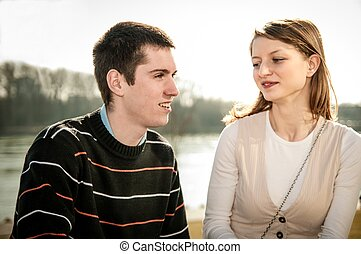 Young couple in love together