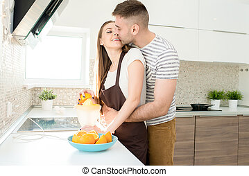 Young Couple in Morning