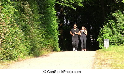 Young Couple Lovers in Nature