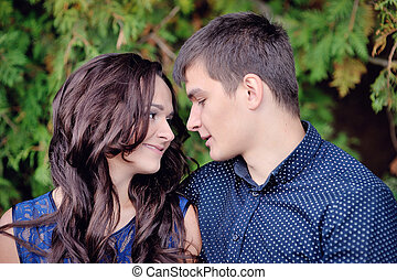 young couple man and woman