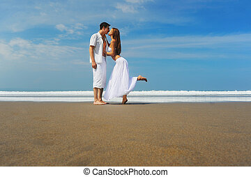Young couple on a beach
