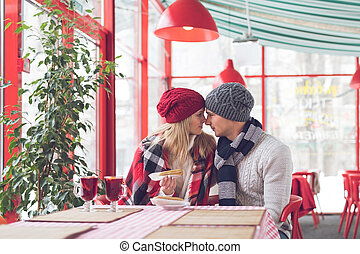 Young couple on a romantic date