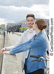 young couple on the quays