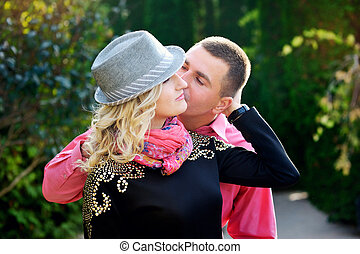Young couple outdoor portrait