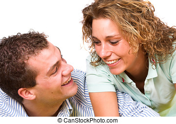 Young couple - Lovely young couple having fun together