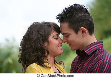 Young couple in nature