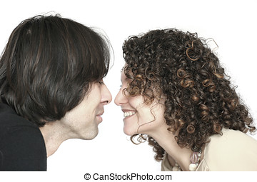 Young couple - Lovely young couple together (slightly...