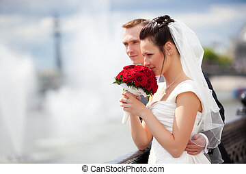 Young couple wedding