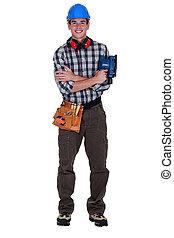 young craftsman posing