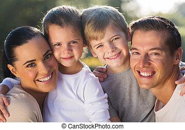 young család, boldog