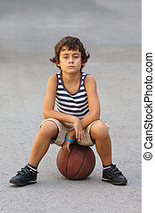 boy with basketball ball