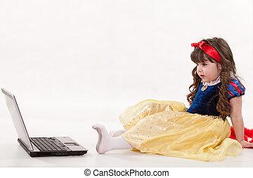 Young cute caucasian toddler
